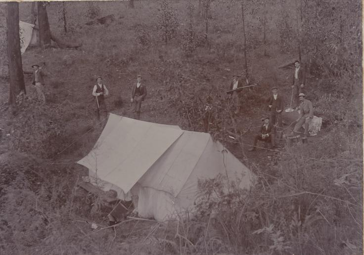 Gold miners at Forest Range.