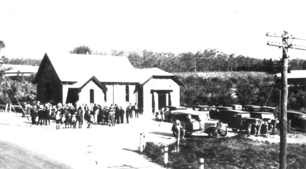 Opening of the Lenswood Methodist Church in 1932.