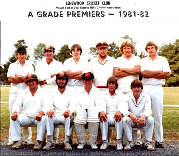 Lenswood Ranges A grade cricket grand final winner 81-82