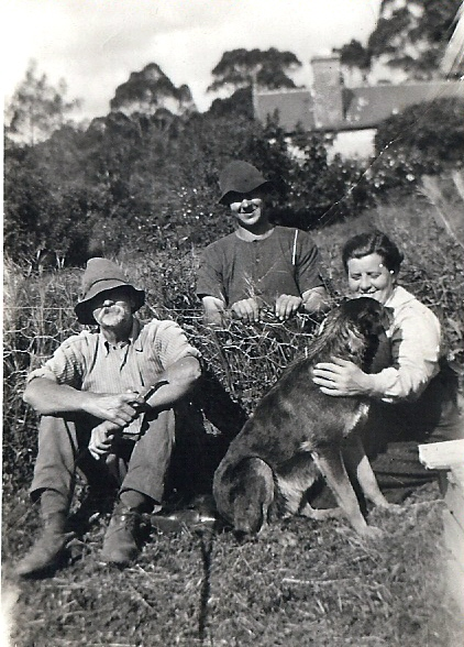 Henry and Eva Trevenen, with their son Jack (centre) at thier home Givendale, Swamp Road.