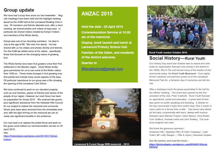 FRLHG-Newsletter-2015-January2